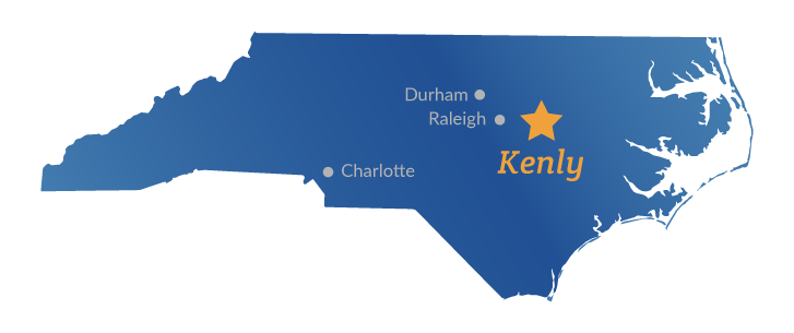 town of kenly nc map