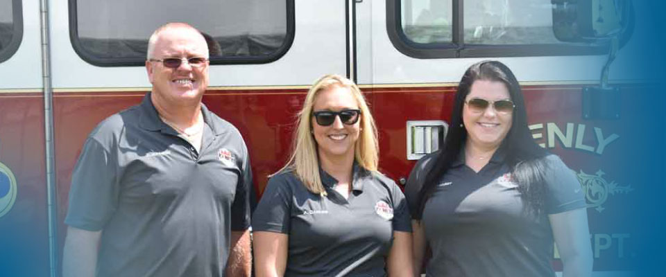 smiling fire department staff